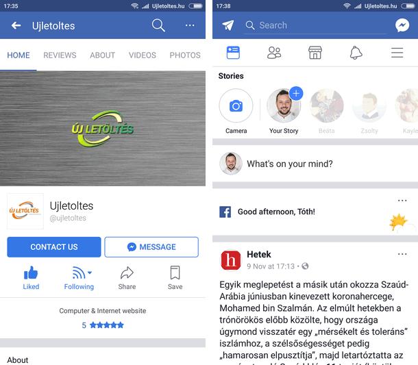 Facebook Apk letöltés ingyen
