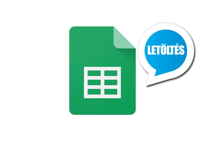 Google Sheets Android alkalmazás letöltése ingyen