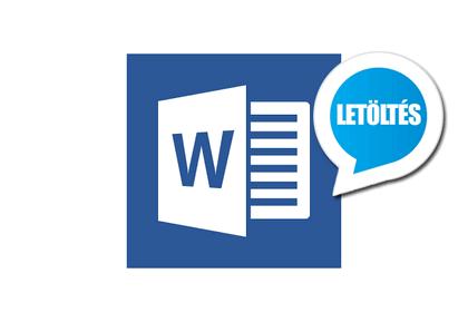 Microsoft Word 16.0.9 (magyar) letöltés