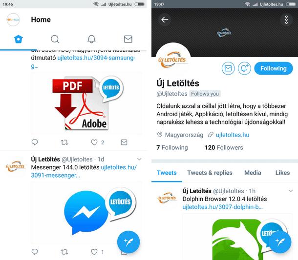 Twitter Apk letöltés ingyen