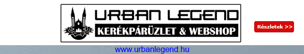 Urban Legend kerékpár üzlet